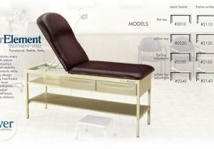 BREWER ELEMENT TREATMENT TABLE INCLUDES FLAT TOP WITH ADJUSTABLE BACKREST WITH BUILT -IN PILLOW